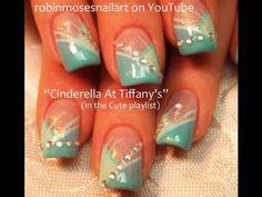 Cinderella at tiffanys! prom nail art by robinmosesnailart on Youtube :D