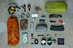 Bikepacking Pisgah overnight kit