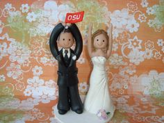 Custom Made Bride and Groom Wedding Cake Topper. $120.00, via Etsy.