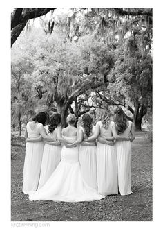 bridesmaids, wedding day, black and white, girlfriends. friends forever, hugs, Cypress Trees Plantation Wedding, Charlotte NC Wedding Photographer, Kristin Vining Photography