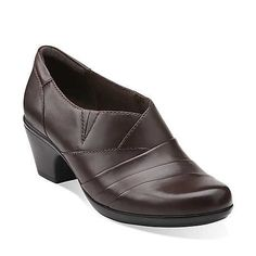 brown professional clog shoe sexy librarian clarks