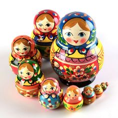 Colorful 10 Piece Matryoshka Doll from therussianstore.com