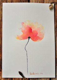 Watercolor Paper, Watercolor Flowers, Watercolor Paintings, Rose Paintings, Watercolors, Poppy Flower Painting, Medium Art, 9 And 10, Poppies