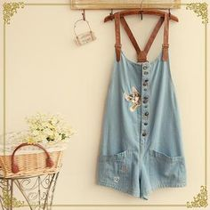 Buy 'Fairyland – Cat Embroidered Dungaree' with Free International Shipping at YesStyle.com. Browse and shop for thousands of Asian fashion items from China and more!