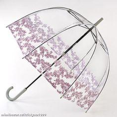 SKLADEM Dámský transparentní průhledný deštník