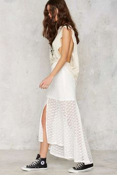 MINKPINK Sunshine Lover Crochet Midi Skirt - Clothes | Rules To Slip By | Maxi
