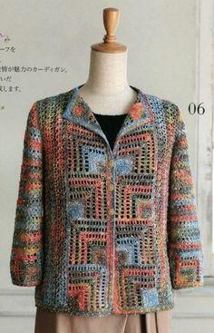 This pattern uses USA Crochet Terminology. Gilet Crochet, Crochet Coat, Crochet Jacket, Crochet Cardigan, Crochet Clothes, Cute Crochet, Crochet Stitches, Crochet Designs, Crochet Patterns