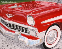 Classic Car Wall Art, Men's Gift, Father's Day Gift, Teenage Boy's Room, Man Cave Art, '56 Chevy, Classic Car Art, Giclee Print, Item #CKP1