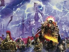 """wh40kartwork:  """" The cover artwork for The Master of Mankind  by Neil Roberts  """""""