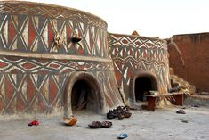 Africa | Traditional houses of the Sirigu, Ghana | © Johan Gerrits #travel #africa Please like, or repin. Thanks!