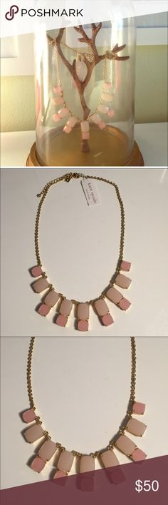 NWT Kate Spade necklace Gorgeous pink and ivory gem necklace. kate spade Jewelry Necklaces