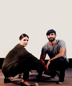 Shelley Hennig and Tyler Hoechlin at Wolfsbane 4.