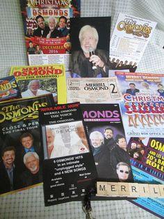 Merrill Osmond, lead singer of The Osmonds, memorabilia from the UK. Merrill Osmond, The Osmonds, The Voice, Singer, Concert, Music, Musica, Musik, Singers