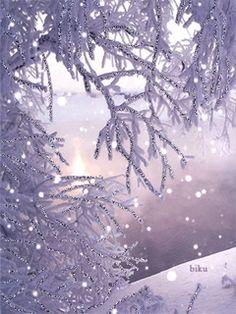 ❄️ Winter Purple ❄️ / snowflakes gif