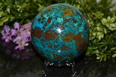 Amazing Chrysocolla Sphere Chrysocolla Sphere 88 MM Natural