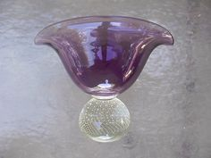 Carl Erickson grape fan vase with paperweight base | Asking: $525/16.80
