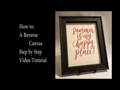 Step by step picture tutorial of how to make a reverse canvas project. Use a ready made canvas and a few simple tools to switch it up and give a new look to your old canvas. Wall Ideas, Diy Ideas, Craft Ideas, Nifty Crafts, Craft Things, Repurposed Furniture, Printables, Tools, Decorating