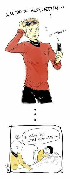 Sulu missed Chekov