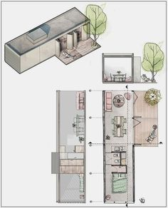Tiny House Plans 455145106090347174 - on Behance Source by Container House Plans, Container House Design, Small House Design, Compact House, Micro House, Container Architecture, Architecture Plan, Small House Plans, House Floor Plans