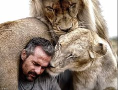 """They call him """"the lion whisperer,"""" but Kevin Richardson is trying to do a whole lot more than just get up close and personal to the lions he's rescued."""