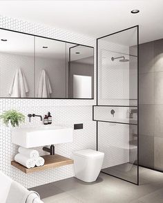 Do you own a small, narrow bathroom? Then go through these creative narrow bathroom ideas and tips to help you design your home. Wet Room Bathroom, Bathroom Interior Design, Modern Small Bathrooms, Bathroom Makeover, Bathroom Trends, Minimalist Small Bathrooms, Minimalist Bathroom, Contemporary Bathroom Designs, Bathroom Decor