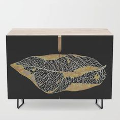 Dried leaf 2 Credenza by gracefullrebel Dry Leaf, Office Cabinets, Walnut Finish, Credenza, Cleaning Wipes, Mid Century, Leaves, Table, Furniture