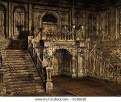 Inside Old Abandoned Mansions   visit shutterstock com