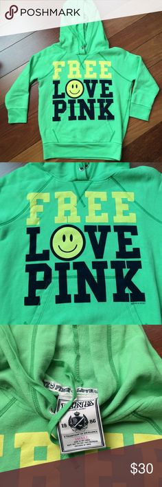 NWOT VS PINK Hoodie Size S Brand new, excellent condition, soft fleece. Size small but RUNS SMALL, like an extra small PINK Victoria's Secret Sweaters