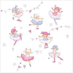 """CODE: LS95 NAME: LITTLE DANCERS PRICE: £1.75 Buy now: https://www.phoenix-trading.co.uk/web/km43704/area/shop-online/category/children/product/LS95/little-dancers/ Presentation: Matte card with flittered highlights, with a white 100 gsm, 100% recycled, envelope. Blank for your own message. Paper Type: Matt Textured Flittered Artist: Annabel Spenceley Size: 6 x 6"""" : 152 x 152mm"""