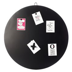 vtwonen Round Magneetbord Ø 80 cm - Zwart