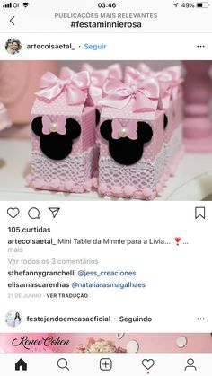 Personalizados Minnie Rosa Minnie Birthday, Baby Birthday, Birthday Parties, Minnie Mouse Theme, Bays, Mouse Parties, Pink And Gold, Party Favors, Party Themes
