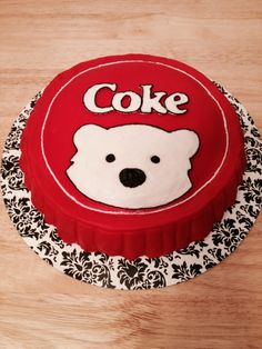 Coke bottle cap cake