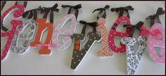9+Wooden+Nursery+Wall+Letters+SIX+INCH+Custom+by+dwellingonline,+$112.50