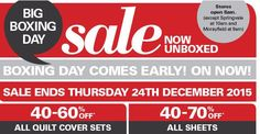 Deal: Harris Scarfe - Early Boxing Day Sale - Up to 70% off! Ends 24th Dec - Dec 16, 2015