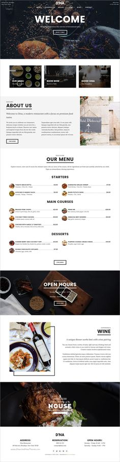 Dina is a clean and modern design #bootstrap #HTML template for coffee shops,  restaurants, #cafe bars, pubs, #bakeries and any food & drink related business website download now➩  https://themeforest.net/item/dina-restaurant-bar-cafe-food-html-template/18818878?ref=Datasata