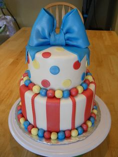 Cute cake idea for M's Dumbo/circus party