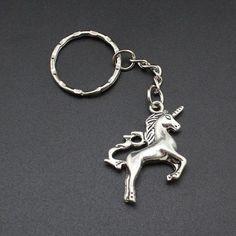 Hapiship 2017 New Women/Men's Fashion Vintage Silver Unicorn Key Chains Key Rings Alloy Charms Gift Wholesale Unicorn Jewelry, Unicorn Gifts, Mode Vintage, Gift Store, Key Rings, Vintage Silver, Jewelry Sets, Sparkle, Mens Fashion