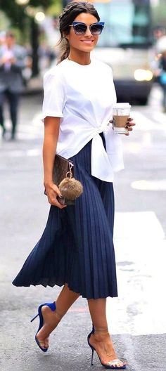 summer outfits Fashion Trend / Top Skirt Heels