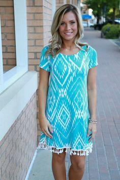 Cool Summer Dress: Aqua - Off the Racks Boutique