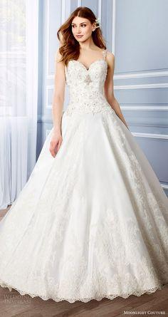 Moonlight Couture Fall 2016 Wedding Dresses 12 - Deer Pearl Flowers / http://www.deerpearlflowers.com/wedding-dress-inspiration/moonlight-couture-fall-2016-wedding-dresses-12/