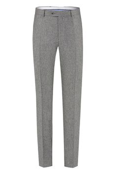 Benevento Wool Flannel trousers, 100%Wool 100'S Vitale Barberis Canonico Flannel in Medium Grey