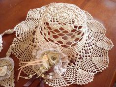 chapéu em crochet engomado