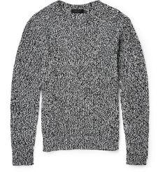 Calvin Klein Collection Gabriel Mélange Cotton and Cashmere-Blend Sweater | MR PORTER