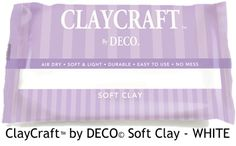 White - CLAYCRAFT™ by DECO© Soft Clay | DECO Clay Craft Academy Online Shop