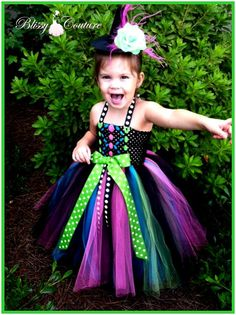 Wicked Witch Halloween Costume Tutu Dress and by BlissyCouture