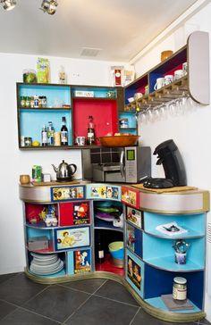 Les meubles de cuisine en carton. www.ecole-du-carton.fr   https://www.facebook.com/ecoleducarton