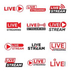 Live stream buttons set Free Vector | Free Vector #Freepik #freevector #music #technology #button #network Online Templates, Flyer Design Templates, Logo Templates, Wordpress Template, Keynote Template, Banners, Best Banner Design, Live Television, New Background Images