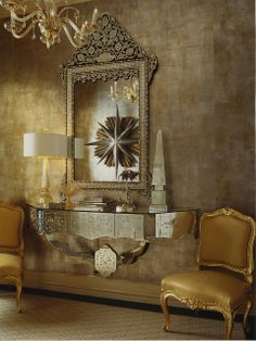 The Enchanted Home: Gilded in gold.......gorgeous!  Entry Foyer