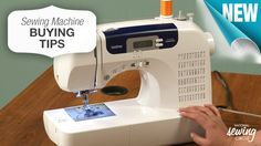 There are three basic questions that we should ask ourselves when beginning the #sewing machine buying process that will help you decide on the perfect machine for you. www.nationalsewingcircle.com/video/sewing-machine-buying-tips-003851 #LetsSew