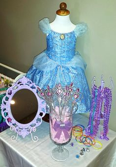 A Princess Tea Party – Children's Birthday Party | Girl's Birthday Party Ideas | Dress Up Area | Jewelry | Wands | Beads